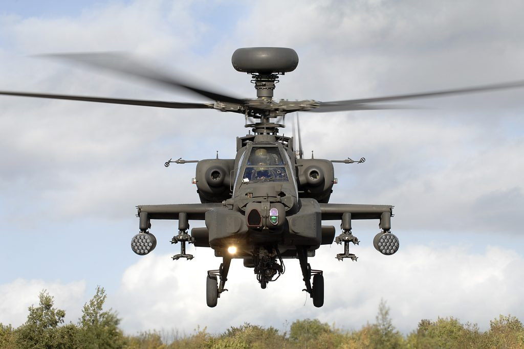 Army Air Corps: Apache attack helicopter