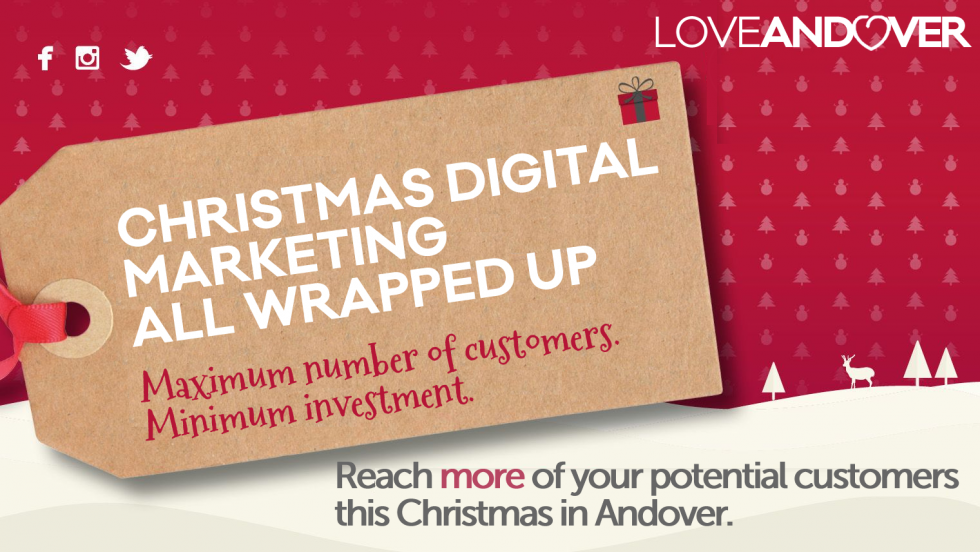 Christmas Retail Marketing Tag in Andover