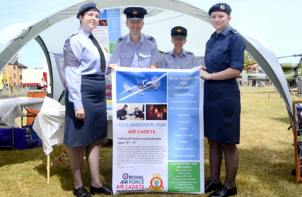 RAF Cadets Armed Forces Day Andover 2018