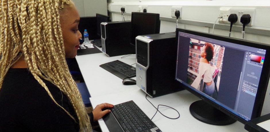 Andover College student Jess Ngombe