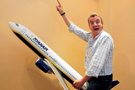 Michael O'Leary, CEO of low-cost airline Ryanair
