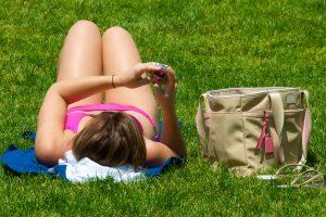 Andover Weather is too hot sunbathing