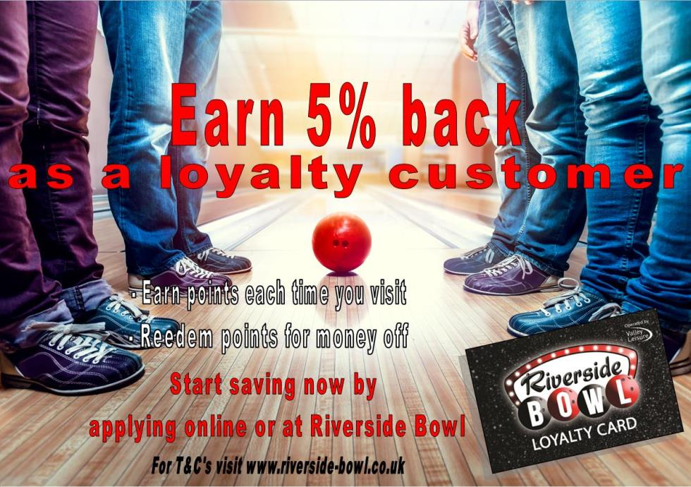 Riverside Bowls – Loyalty Card Poster