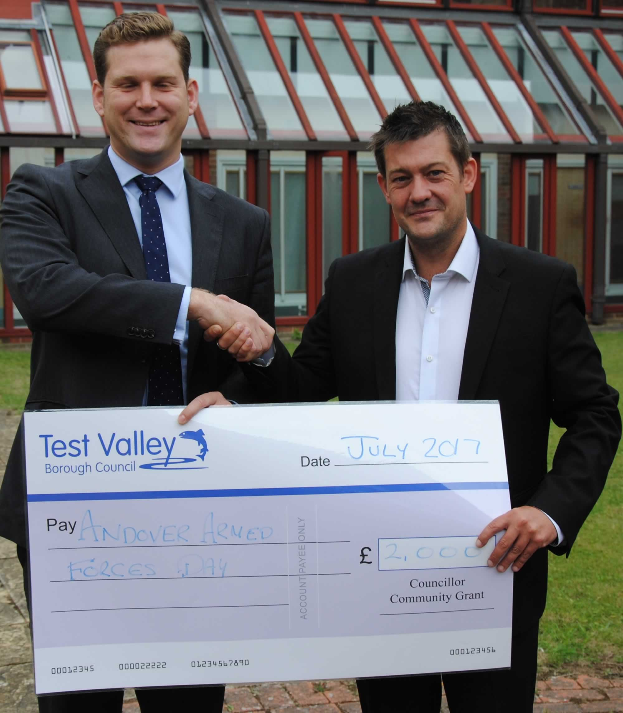 Andover Armed Forces Day Cheque TVBC