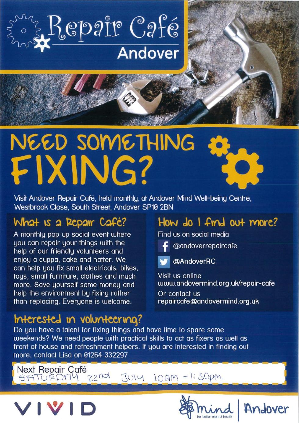 Andover Repair Cafe Poster