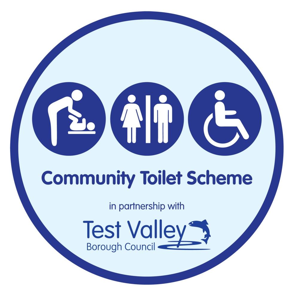 Community toilet scheme sticker