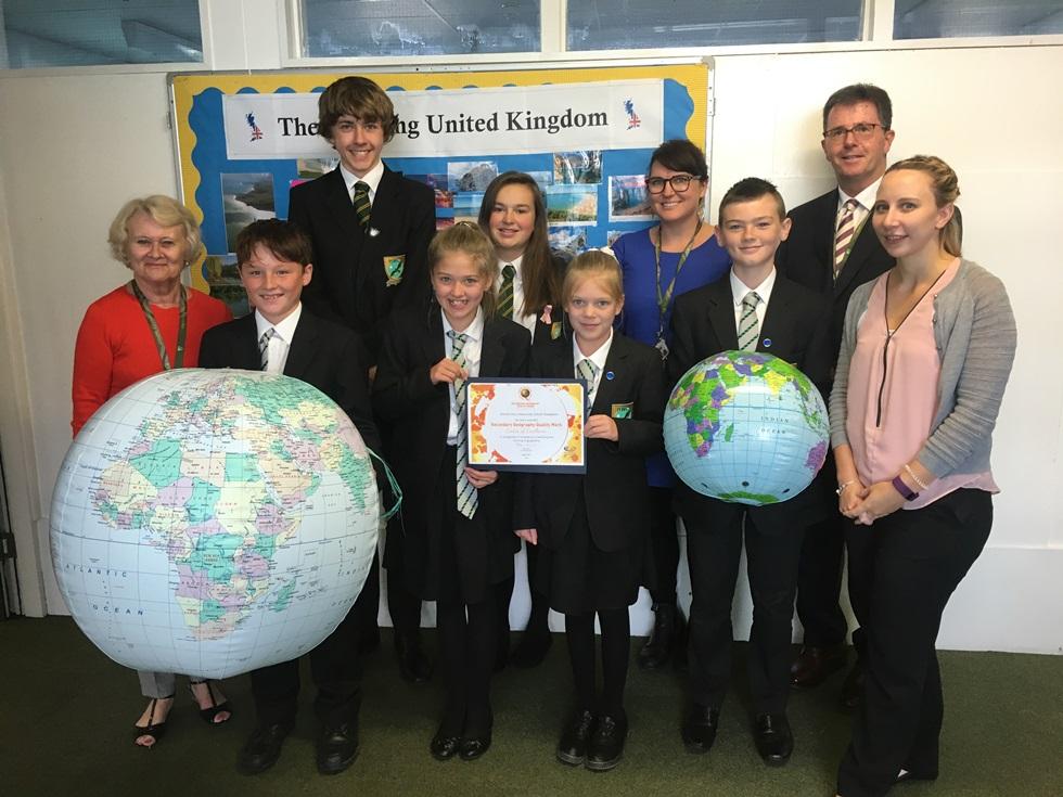Harrow Way School – Geography Award Team