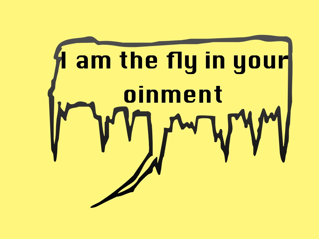 I am the fly in your ointment