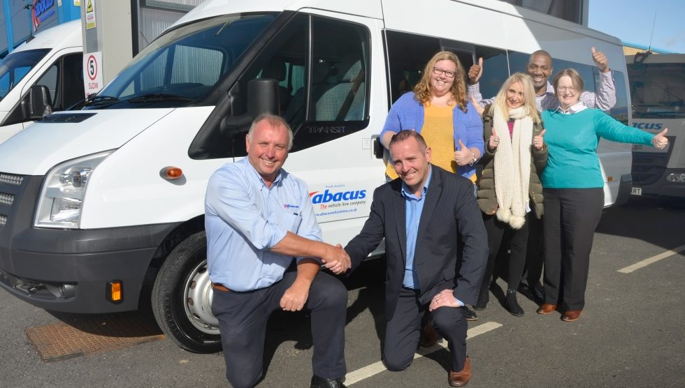 Abacus - Dave Wolfenden with Chris Dixon and Andover Mencap team