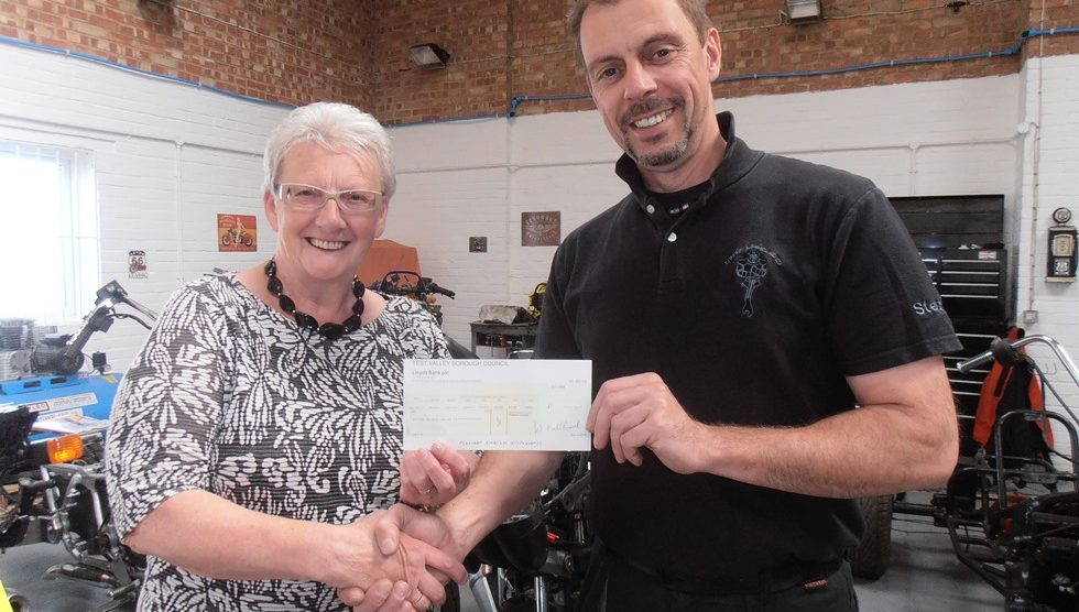 TVBC - Councillor Andersen presents grant to Forces Re-Engineered