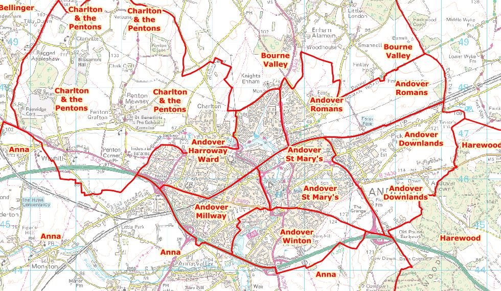 Test Valley Proposed Boundary Changes Andover