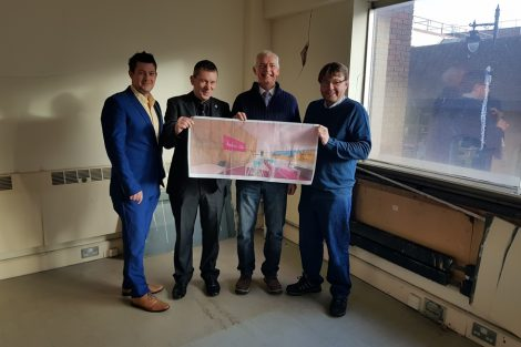Andover Radio directors with David Coole (JPD Property Services)