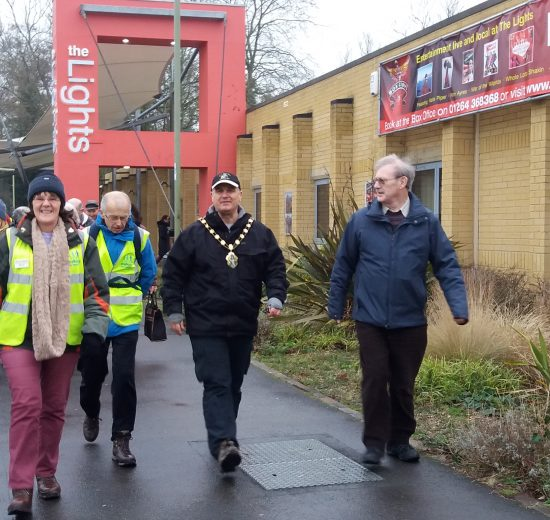 Mayor of Test Valley health walks