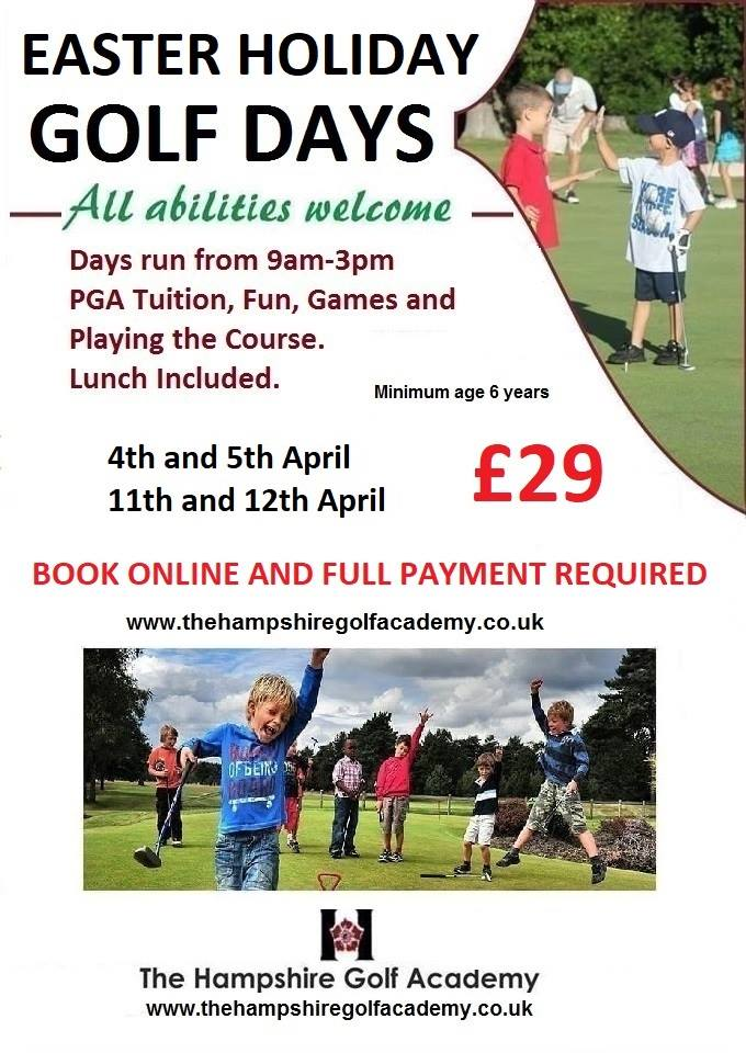 Easter holidays at Hampshire golf club