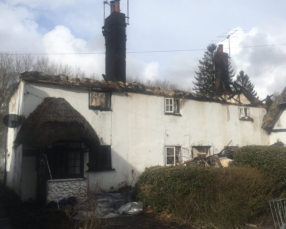 Hants Fire: Monxton blaze