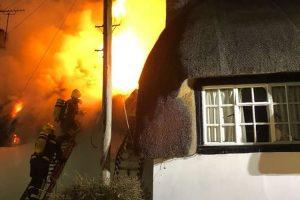 Hants Fire Service tackle Monxton blaze