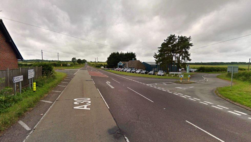 Hill Farm Cross Junction at Sutton Scotney