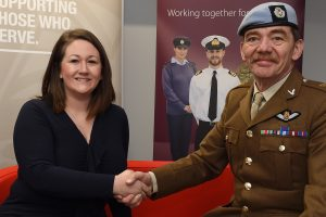 Armed Forces Covenant - Louise Ellison BP Rolls and Lt Col Birkett