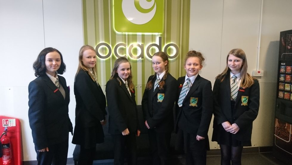 Harrow Way's Girls' Computing Club visit Ocado