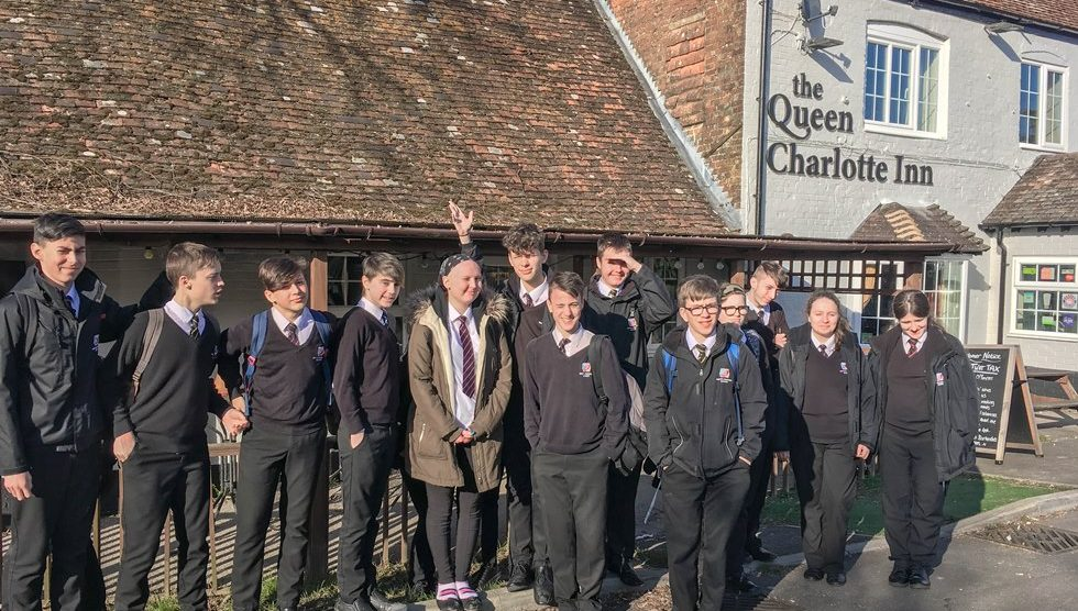 Winton School Students at the Queen Charlotte