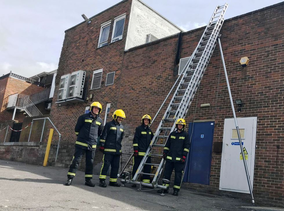Andover Fire Crew at the Chantry Centre