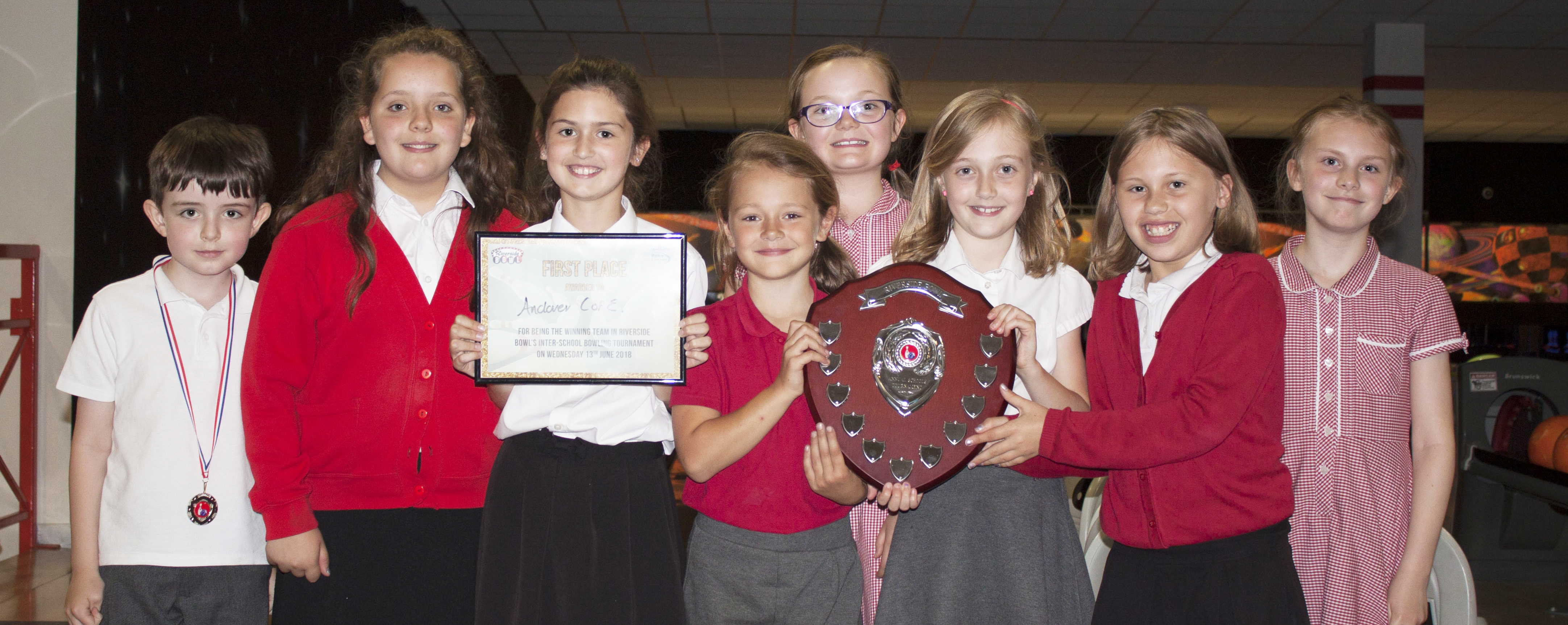 riverside bowl Inter School's Bowling Tournament. winners