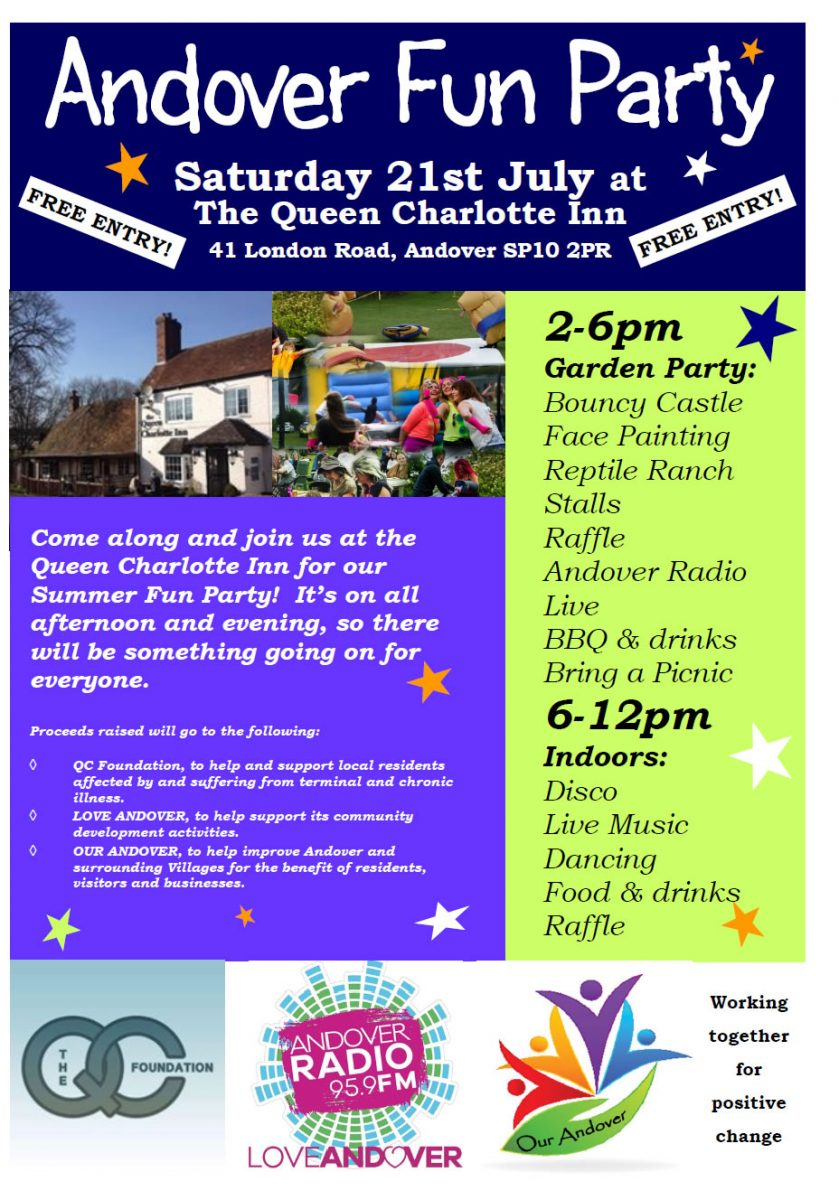 Andover Fun Party July 21st Andover Queen Charlotte
