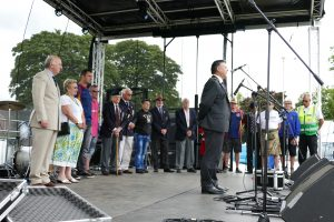 Andover Armed Forces Day 2017 veterans presentation