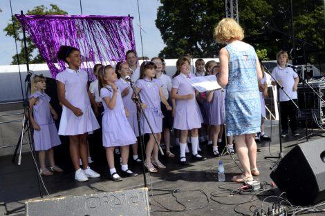 Vigo School Choir Andover Armed Forces Day 2018