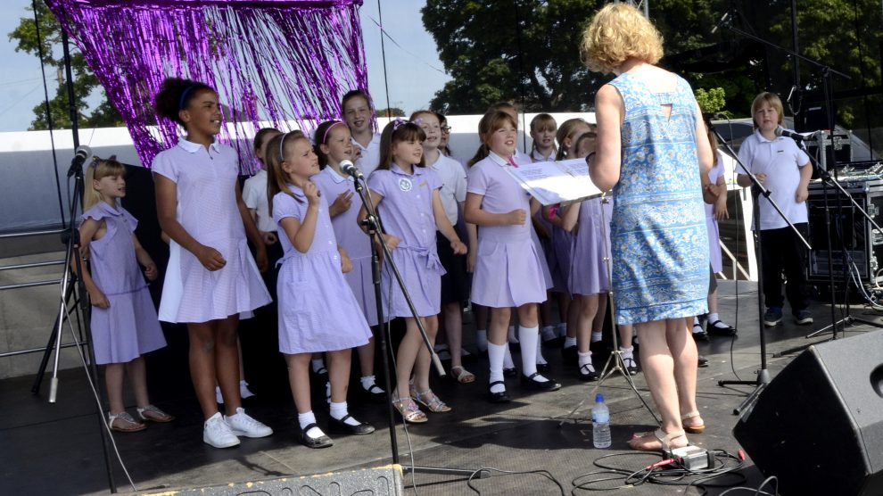 Vigo School Choir Andover Armed Forces Day 2018