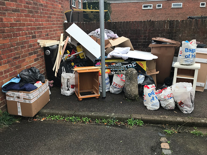 Fly tip in Andover