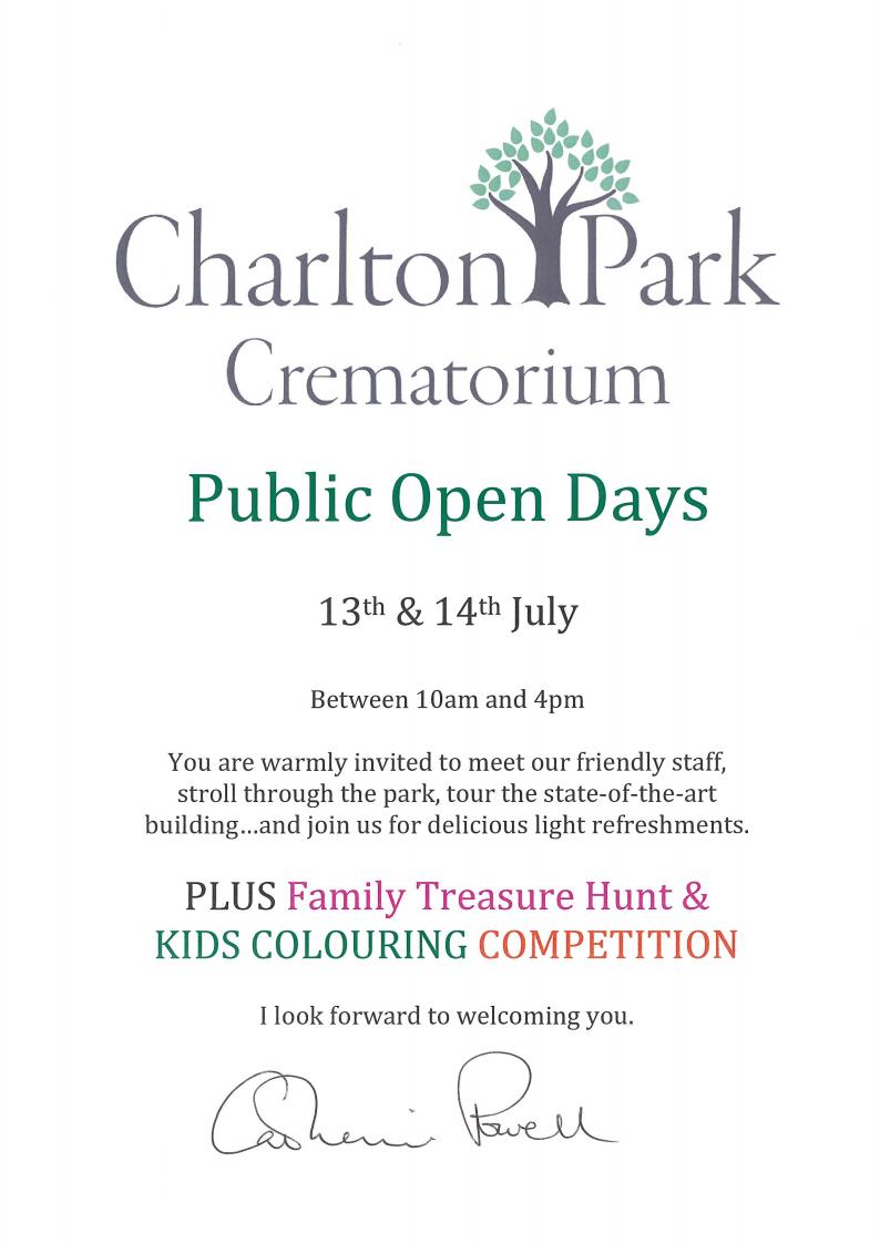 Charlton Park Crematorium Open Days