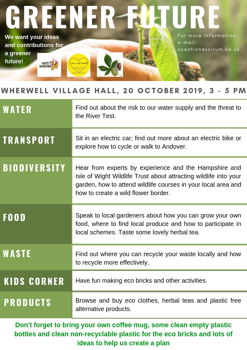 Greener future A 4 leaflet image