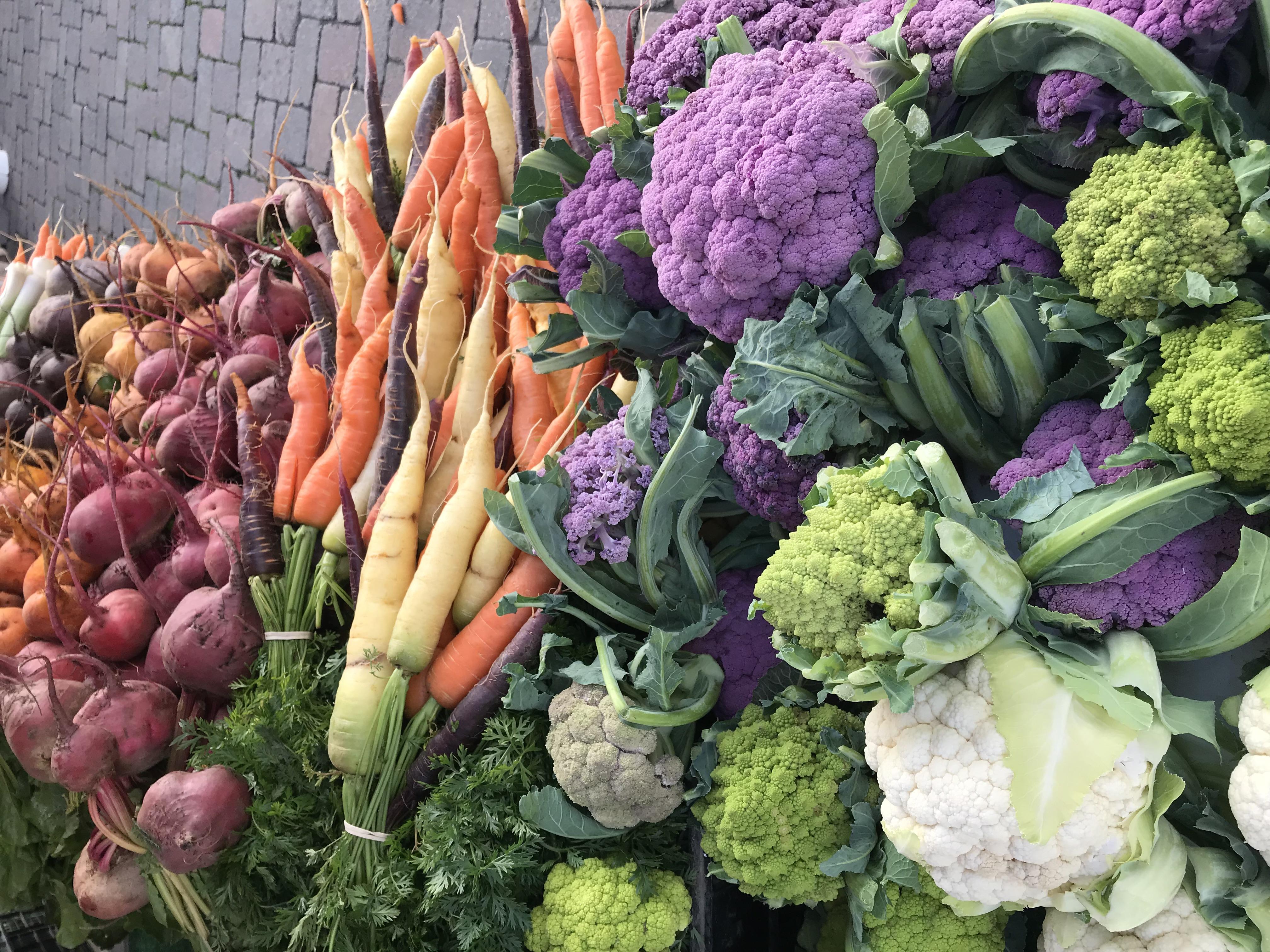 colourful veg