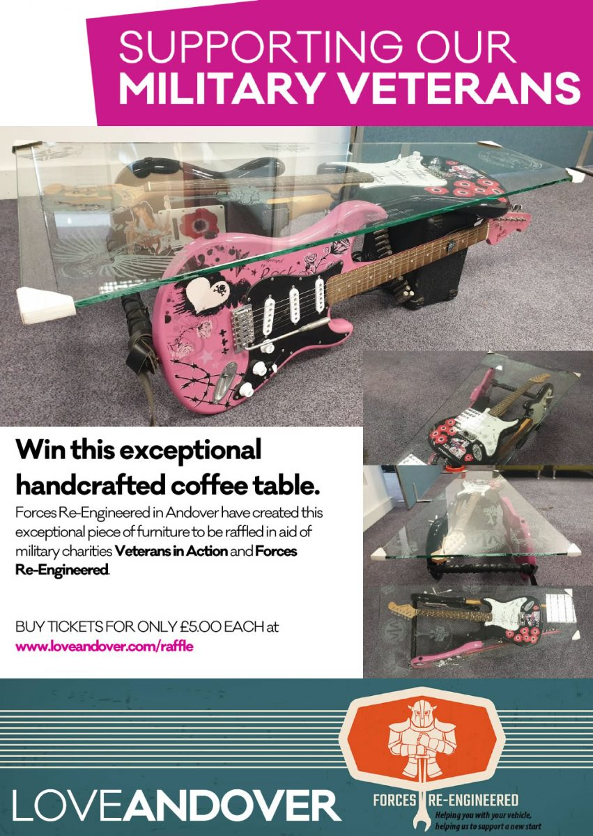 Forces Re-Engineered Coffee Table Raffle