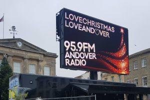 Andover Christmas Lights Big Screen Radio
