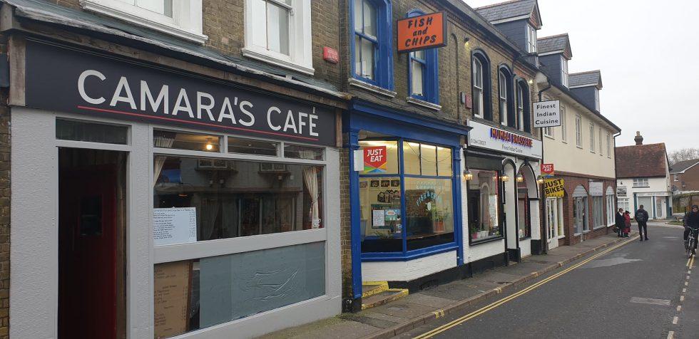 Camara's Fish and Chip Shop and restaurant, High Street Andover