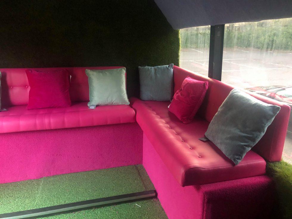 Andover Radio Love Bus Seating Area