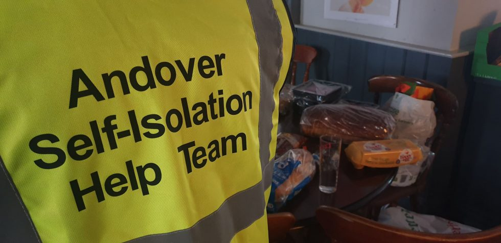 Andover Isolation Help Group hivis jacket