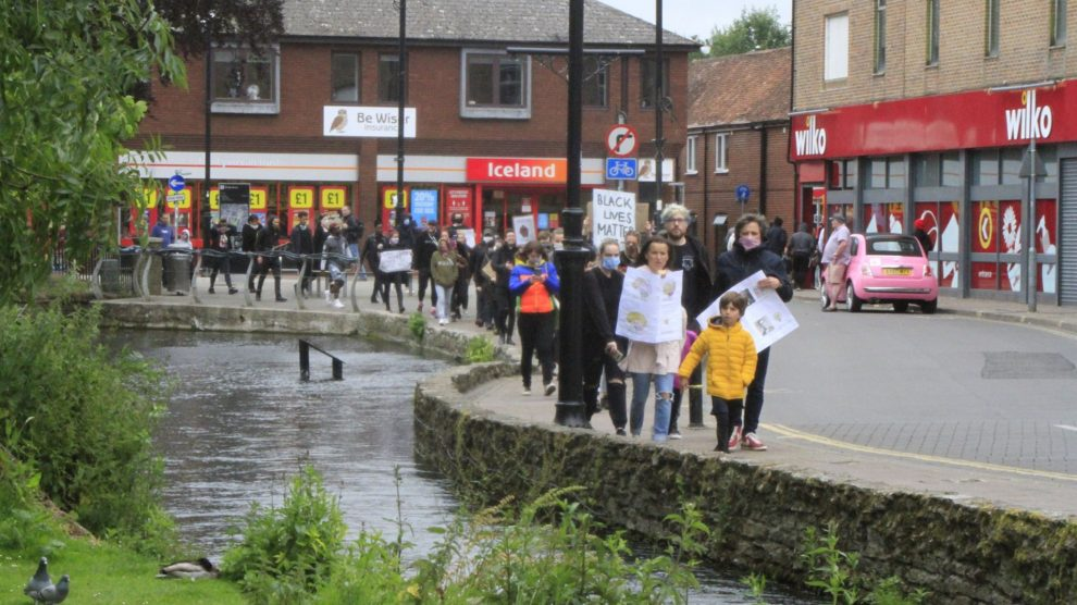 Black Lives Matter protest march Andover June 6th 2020