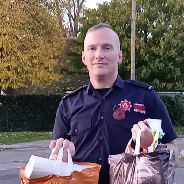 Hampshire firefighter helps families in need during pandemic