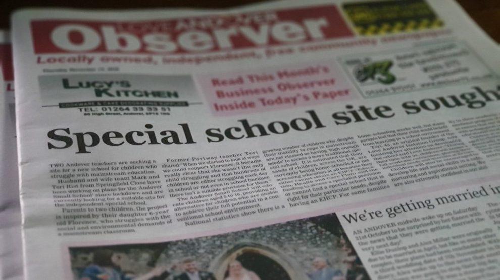 Love Andover Observer Newspaper 18th November 2020