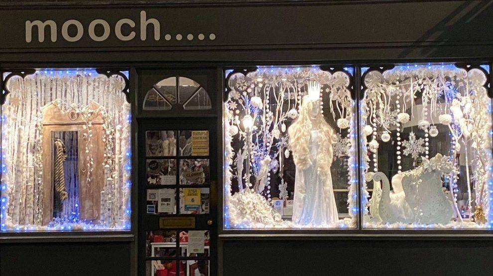 mooch andover christmas window