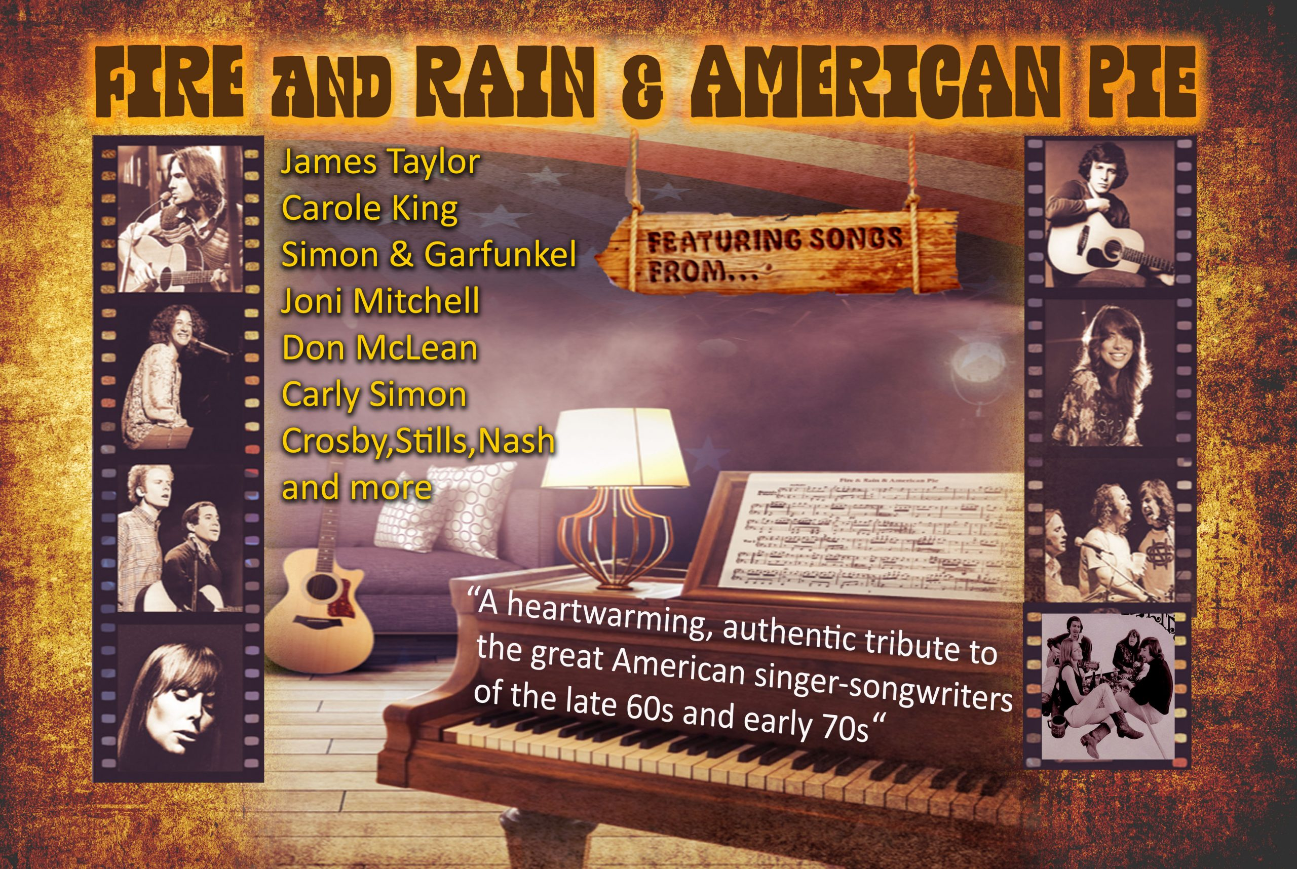 Fire and Rain and American Pie image