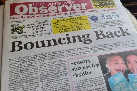 Love Andover Observer Newspaper 6th May 2021