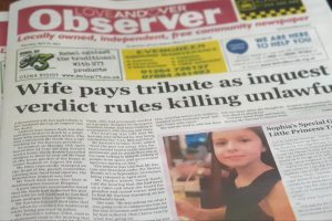 Love Andover Observer Front Page 22nd April 2021