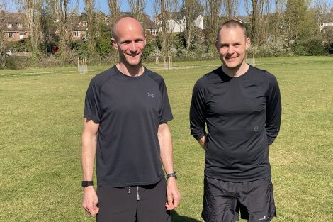 Carl Millward and Dave Pidgen Aster 48 miles charity challenge