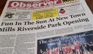 Love Andover Observer Newspaper Front Page 3rd June 2021