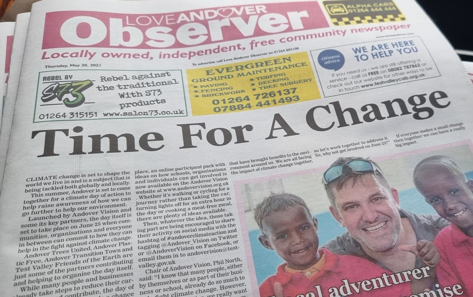 Observer Newspaper Front Page May 20th 2021