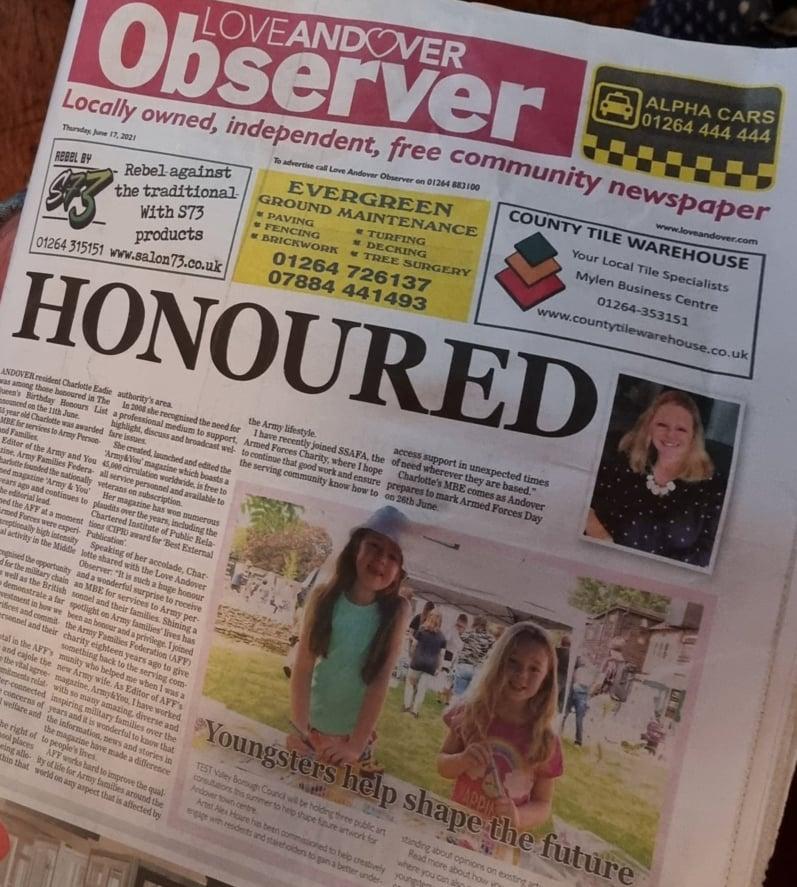 Love Andover Observer Newspaper 17th June 2021